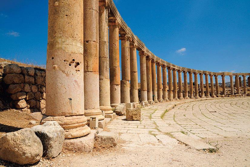 image Jordanie Jerash Ruines romaines