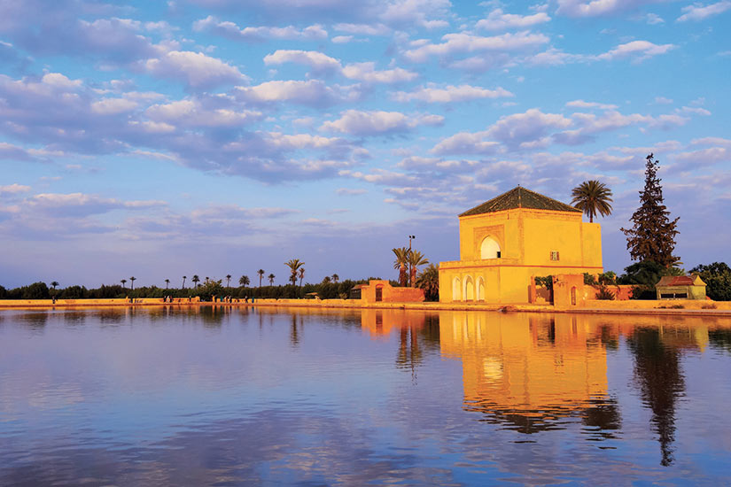 image Maroc jardins de la Menara a Marrakech  fo