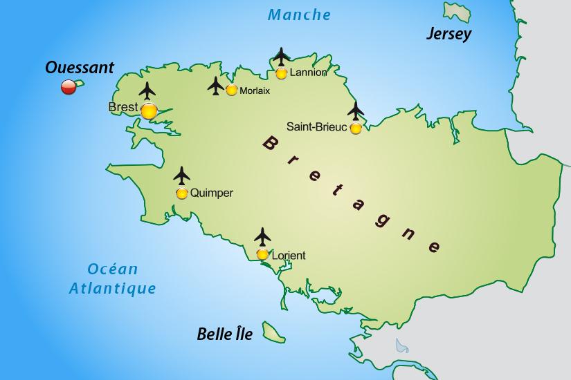 carte France Ile d Ouessant avec Finist Air_355 871289