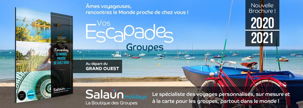 Nouvelle brochure Escapades Groupes 2020-2021